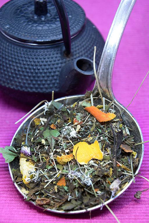 Thé blanc «Tulsi», basilic sacré indien